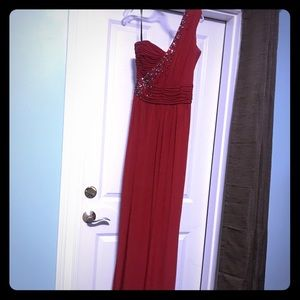laundry by Shelli Segal Red - one shoulder gown
